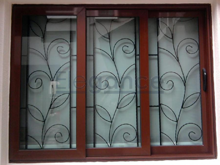 Grill windows chanda co for Window grill design kerala